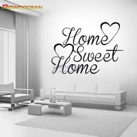 Home Sweet Home Decor Stickers Muraux BRICOLAGE Art Amovible Vinyle Famille Citation Sticker Mural Decoration BRICOLAGE Art Familial Personnaliser W701