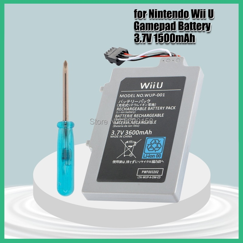 Batería recargable de 3,7 V y 3600mAh para Nintendo Wii U, reemplazo...