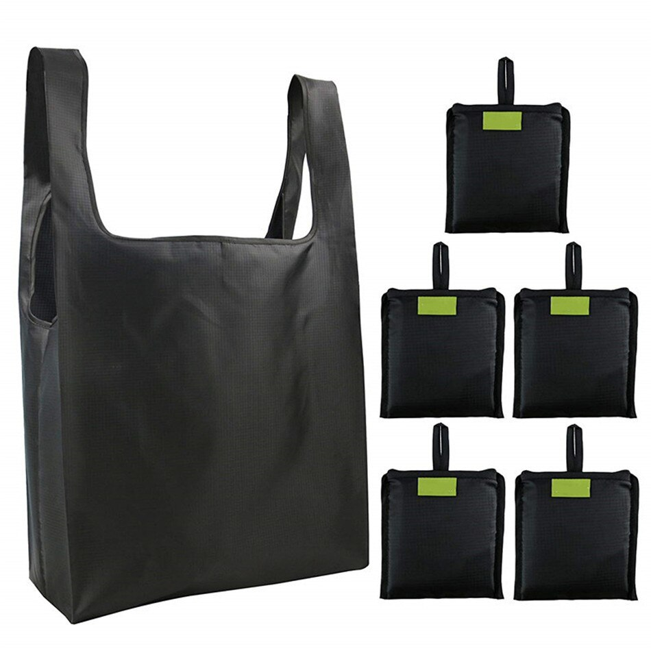 Folding portable shopping bag reusable green bag waterproof storage Oxford cloth bag