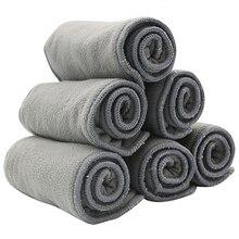 10 pièces couches de bébé de qualité bambou charbon de bois doublure couche-culotte insertion pour bébé couche-culotte lavable 4 couches