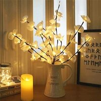20 led table lamp decor lights orchid flower branch lights battery operated home bedroom vase filler party decoration table