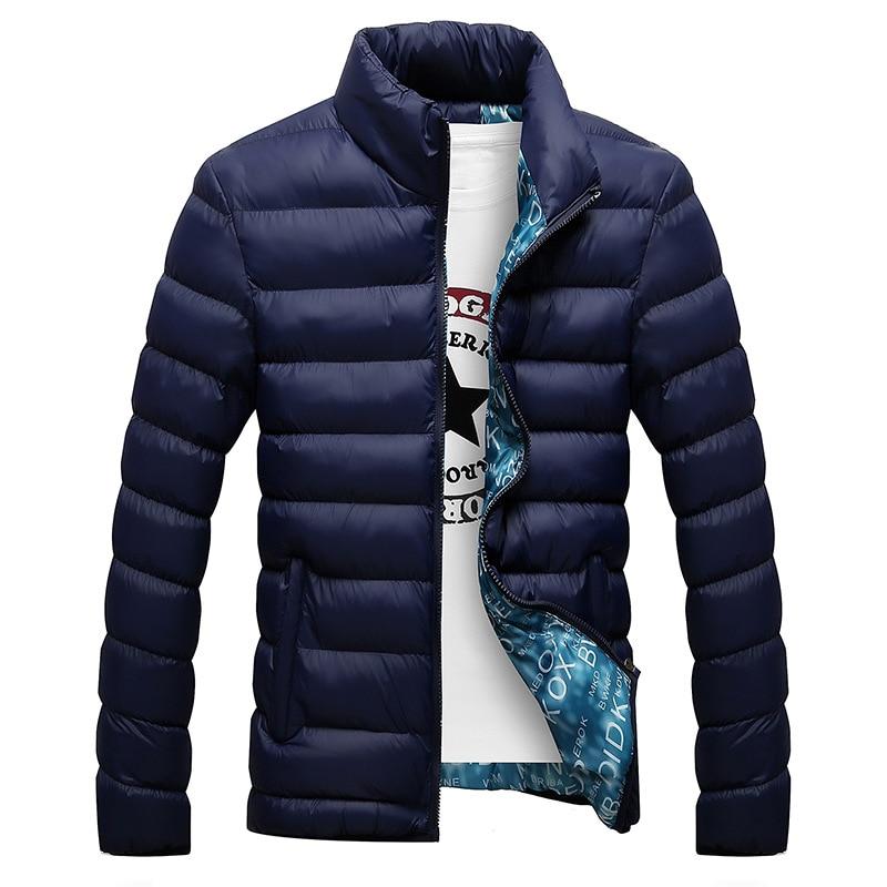 Зимняя мужская куртка 2021, модная мужская парка с воротником-стойкой, мужские однотонные толстые куртки и пальто, мужские зимние парки