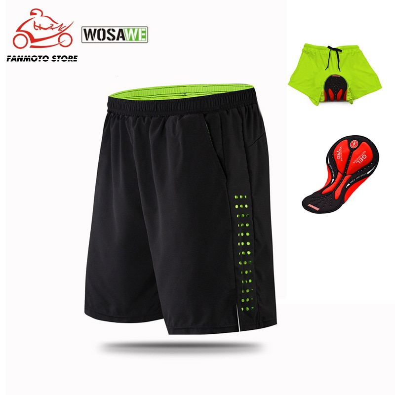 WOSAWE Cycling Shorts Men Gel Padded MTB Shorts Breathable Loose Fit Downhill Bicycle Underwear Mountain Bike motorcycle Shorts enlarge