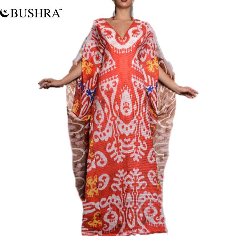 Женское платье в африканском стиле с рукавом «летучая мышь»