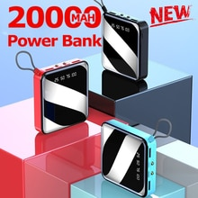 20000mAh Mini Power Bank External Battery Digital Display 2 USB Portable Dual LED Lighting Fast Char