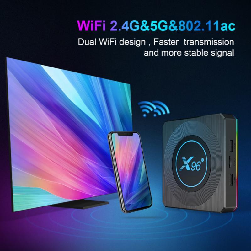 X96 X4 أندرويد 11 صندوق التلفزيون 4GB 32GB 64GB 128G 8K HDR أندرويد TV تدفق مشغل الوسائط ومساعد جوجل عن بعد صندوق التلفزيون الذكية