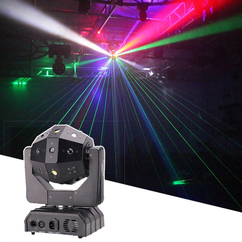 16X3W LED Laser Strobe Beam 3in1 Moving Head Light DMX512 Voic Control 4X15W Stobe Light DJ Disco led Party Wedding Wash Light