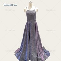 light purple shiny prom dresses 2021 spaghetti strap formal evening dresses lace up back floor length a line party gowns