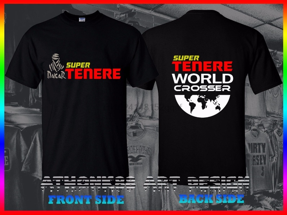 Camiseta de moda 2018 para hombre de manga corta Super Tenere world crossser Xtz Super rally Adventure motocicleta gran oferta