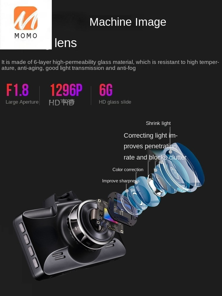 Car Driving Recorder HD Installation-Free Panoramic Image Wireless 24 Hours Parking Surveillance enlarge