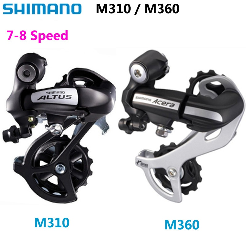 SHIMANO-desviador trasero para bicicleta de montaña, ALTUS/ACERA RD M310/M360, 7/8 velocidades, 3x7s,...