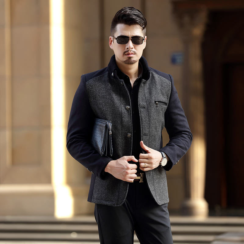 Casual Male Outwear Fleece Thick Warm Windbreaker Jacket Spring Autumn Mens business Jackets Military Baseball top Coat Clothing