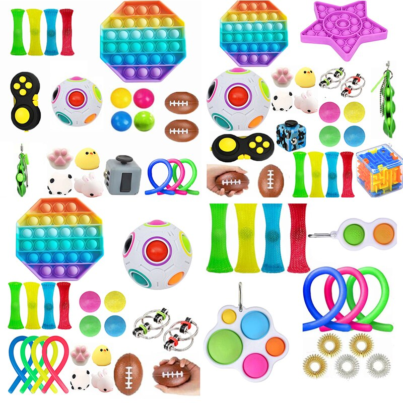 30 Pack Fidget Sensory Toy Set Stress Relief Toys Autism Anxiety Relief Stress Pop Bubble Fidget Sensory Toy For Kids Adults enlarge
