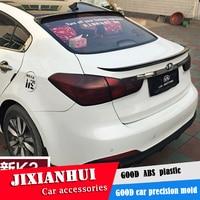 For Forte roof Spoiler 2011-2018 Kia K3 roof Spoiler WWK ABS plastic Material Car Rear Wing Color Rear Spoiler
