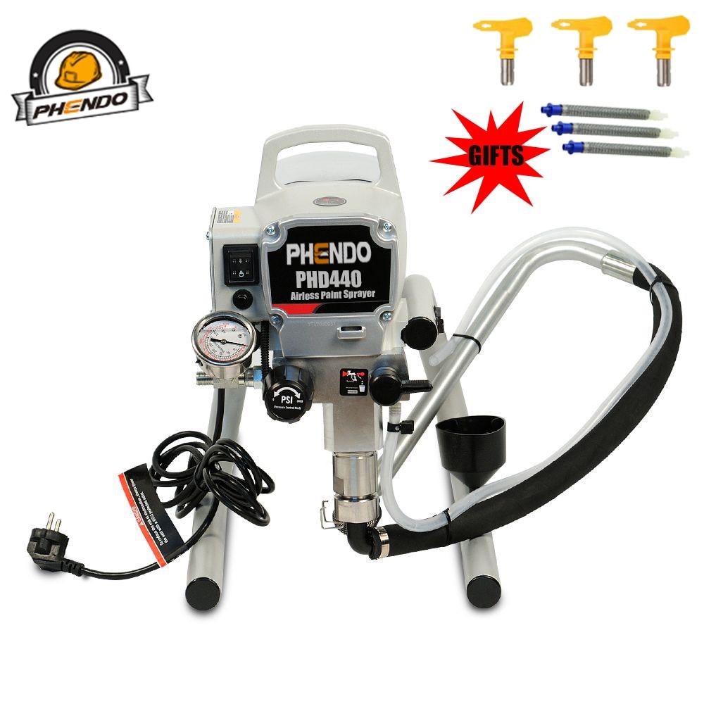 PHENDO Professional Airless Spraying Machine with Brushless Motor Spray Gun 900W 2.2L Airless Paint Sprayer 440 Painting Machine