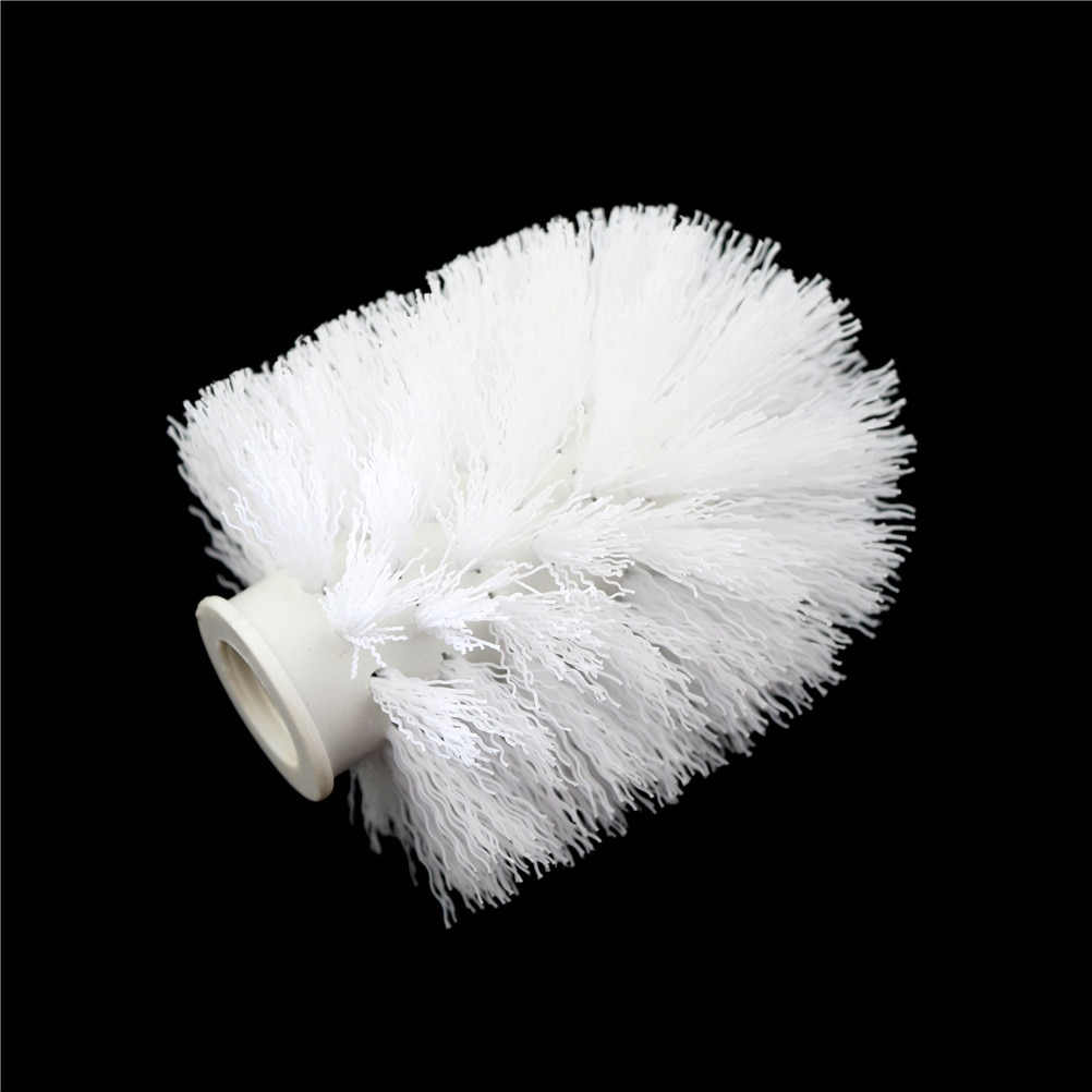 Replacement Bathroom WC Clean Spare Accessories Cleaning Brush Head for Toilet White Toilet Brush Head Holder 75*90mm недорого