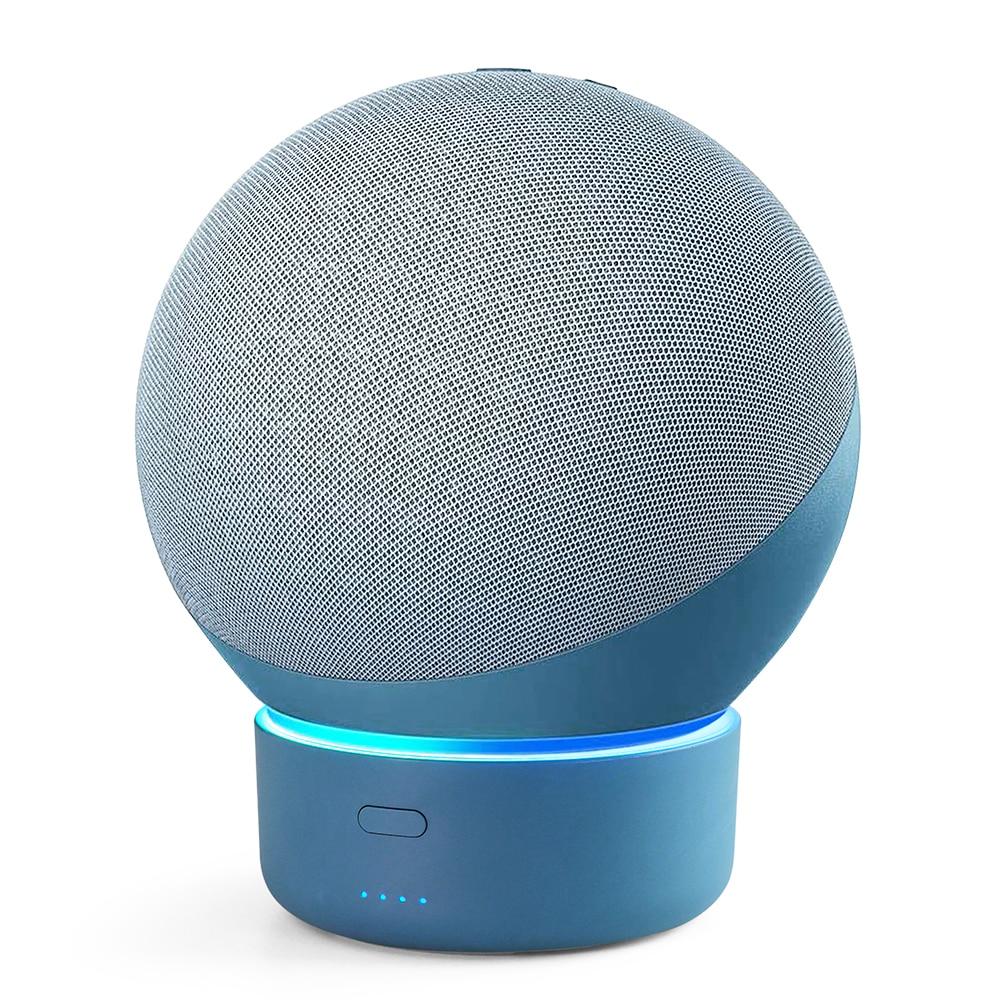 GGMM-قاعدة بطارية E4 لمكبر صوت Echo 4 Gen Amazon Alexa ، بطارية محمولة 10000 مللي أمبير ، حامل حامل Echo 4