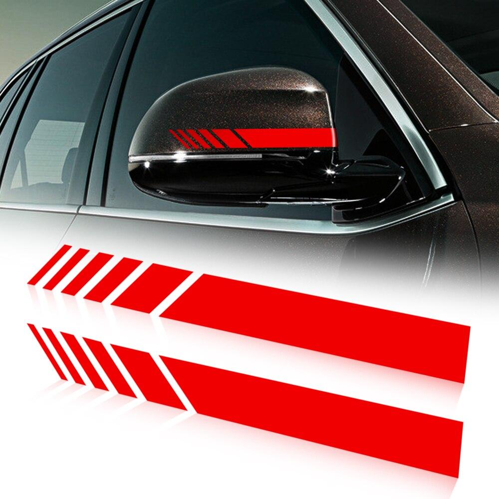 Espejo retrovisor del coche etiqueta lateral raya vinilo para Fiat 500 Tipo Punto stilo Freemont Cruz Coroma Panda, idea Palio Egea 500X Toro
