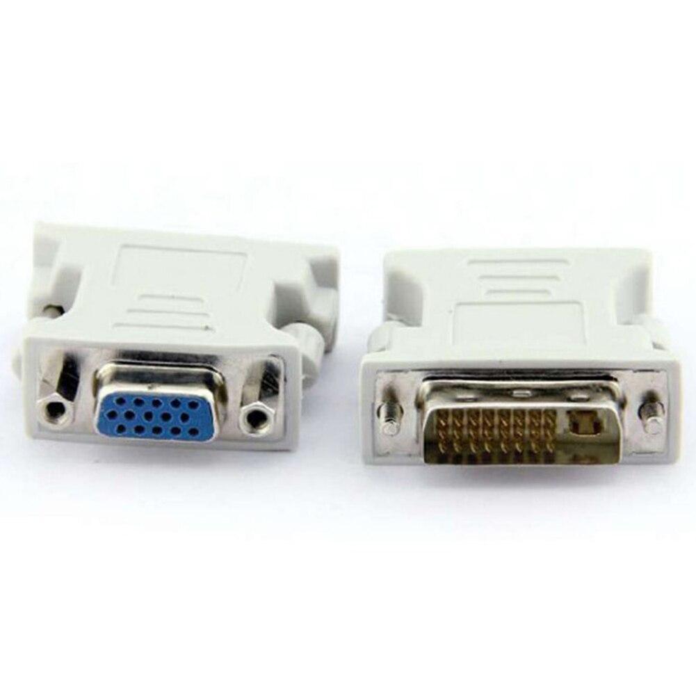 Adaptador conector de plástico para Monitor de ordenador, convertidor de vídeo blanco...