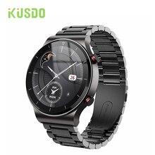 KUSDO 2021 Men Smart Watch Bluetooth Call Watches Waterproof Fitness Bracelet Tracker Smartwatch For