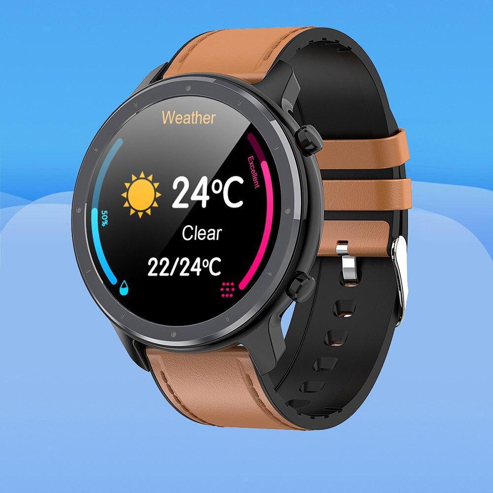 Reloj inteligente para hombre con pantalla táctil redonda completa ECG PPG de frecuencia cardíaca presión arterial oxígeno tiempo Fitness deporte Smartwatch VS L9 DT78