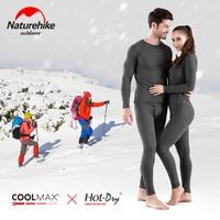 Naturehike Women's Ultra Soft Winter Base Layering Set Microfiber Fleece Thermal Underwear Long Johns Set with Fleece Lined
