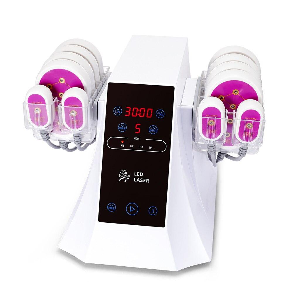 ماكينة نحت الجسم 5mw ماكينة ليزر لإذابة شحوم الجسم ليزر ذو مستوى منخفض جهاز علاج شد الوجه جهاز إزالة الدهون