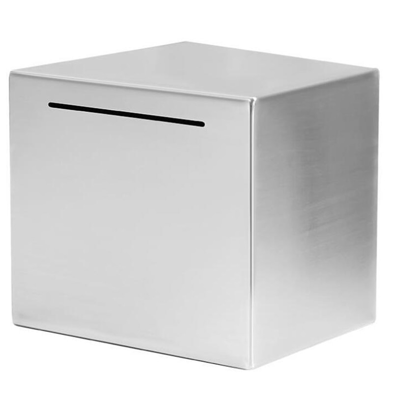 Safe Piggy Bank Made of Stainless Steel,Safe Box Money Savings Bank for Kids,Can Only Save the Piggy Bank That Cannot Be Taken O