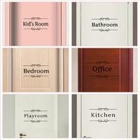 Autocollants en vinyle pour decoration de porte  salle de bain  chambre a coucher  salle de jeux  bureau  toilettes