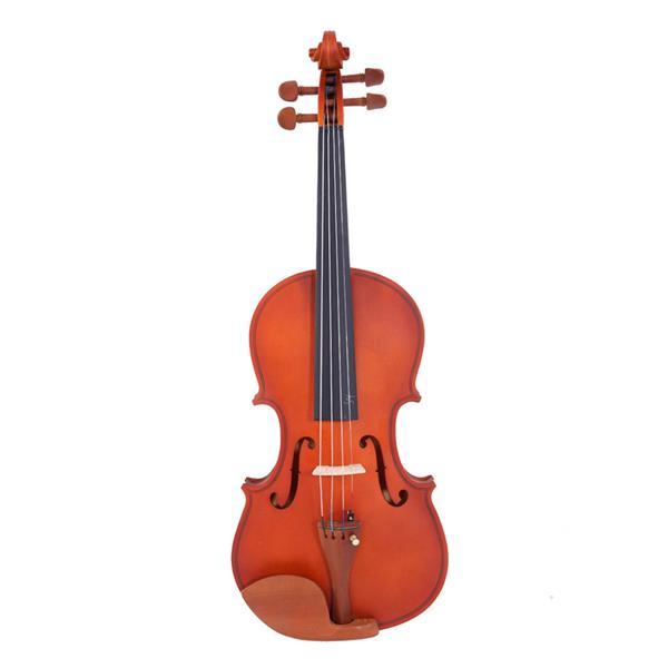 Glarry 4/4 Acoustic Matt Violin Case Bow Rosin Strings Shoulder Rest Tuner Natural Color Violin Maple Material