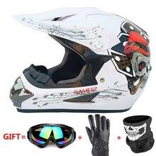 Casco de Moto todo tipo de máscara Casco todoterreno ATV Moto de cross descenso MTB DH capacete Moto gafas Casco de Motocross