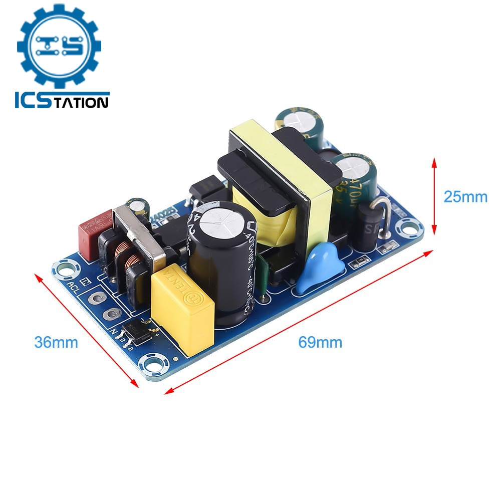 AC to DC 12V Isolated Switch Power Supply Module Overvoltage Overcurrent Circuit Protection Step Dow