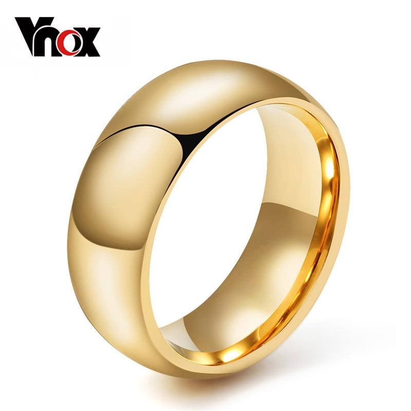 Vnox 100% Anel Do Tungstênio para Homens 8mm Casamento Clássico Jóias Suave almofada de Lustro da mão EUA 6 7 8 9 10 11 12 13