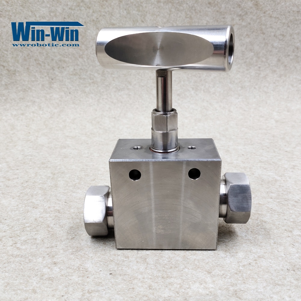 Water Jet 10078889/A-0788-5 HP Hand Valve, Straight 9/16 IN Stainless steel For Waterjet Machine enlarge