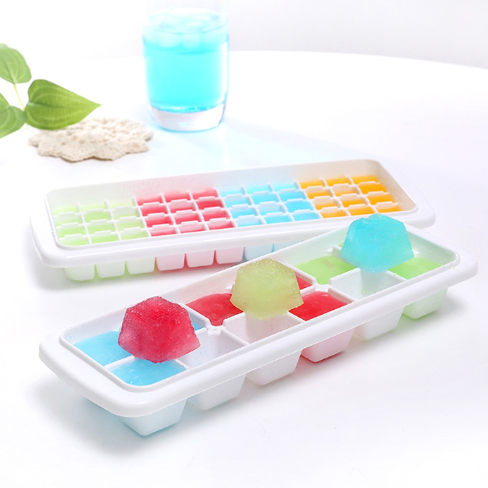 12/48/60 Grids Ice Cube With Lid Eco-Friendly Cavity Tray Ice Cubes Small Fruits Mold Ice Maker for Ice Cube Making