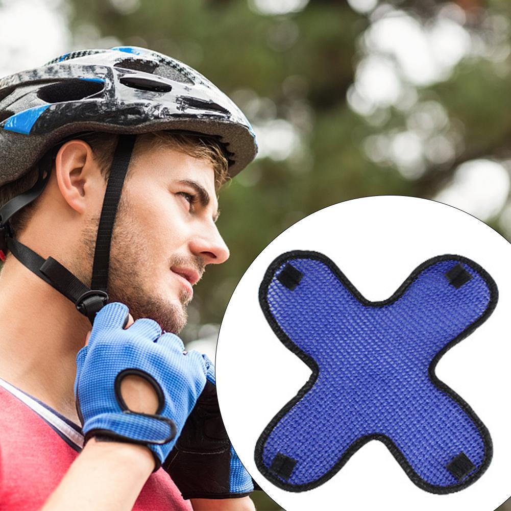 Casco de protección para la cabeza de la motocicleta forro fresco 3D malla de aire microfibra cascos almohadilla de enfriamiento suave banda de sudor para bicicleta eléctrica