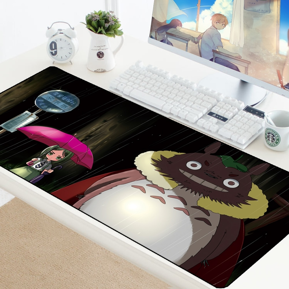 Totoro mouse pad anime antiderrapante computador almofada para mouse notbook mousepad gamer para teclado portátil mousepad tapete