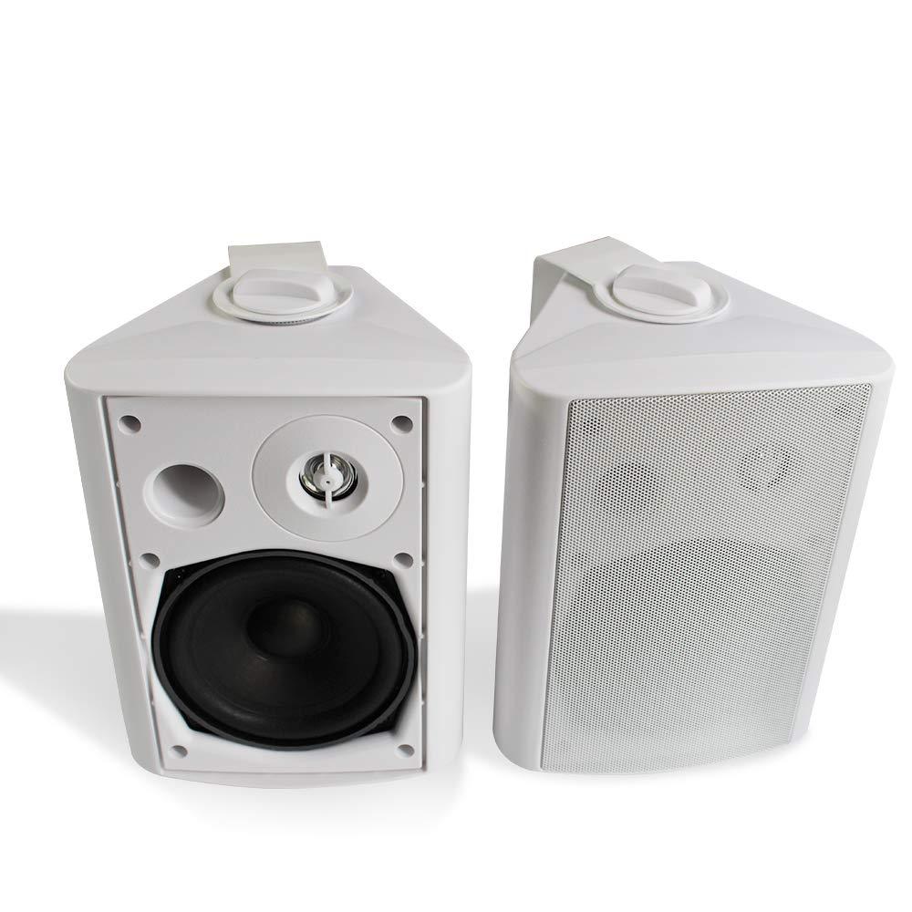 Herdio 5.25 Polegada 200 Watts Interior-Pátio Ao Ar Livre Do Bluetooth Sistema de Montagem Na Parede Alto-falantes com Graves Potentes para Todos Os Climas (branco)