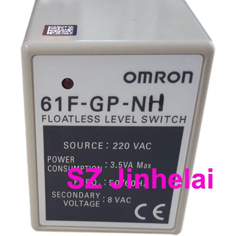 OMRON 61F-GP-NH AC220V أصيلة الأصلي مستوى السائل تتابع المياه وحدة تحكم في المستوى 220VAC