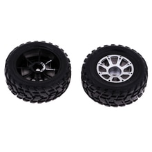 2pcs Plastic Wheel Rubber Tires for WLtoys A949 RC Car Spare Parts