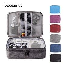 DOOZEEPA Portable organisateur numérique sac de voyage 2 couches accessoires électroniques sac de rangement appareil numérique sac Gadget sacs de transport
