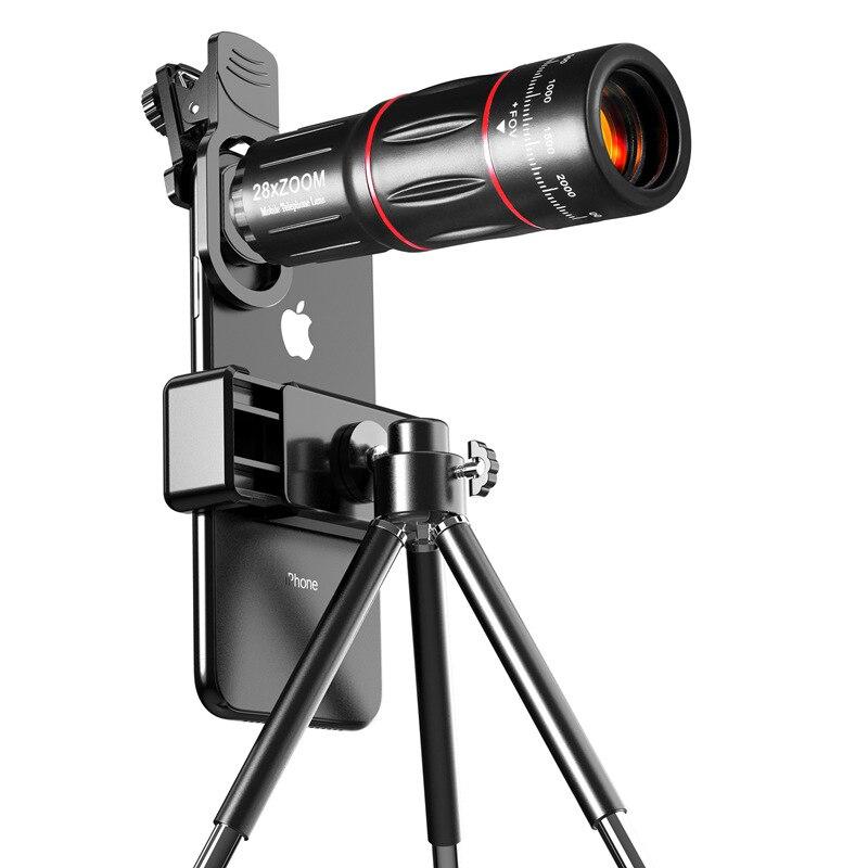 TOKOHANSUN 28X мобильный телефон Монокуляр телескоп объектив астрономический телескоп объектив с переменным фокусным расстоянием Выдвижной Штатив Трипод для iPhone 7 8 плюс 11 смартфонов Объективы для мобильных телефонов      АлиЭкспресс
