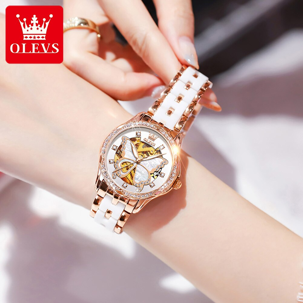 OLEVS Women Watches Mechanical Watch Luxury Bracelet Wrist Wristwatch Elegant Ladies Automatic Clock Watch Relogio Feminino 6622 enlarge