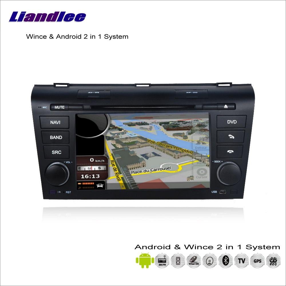 Liandlee-voiture multimédia Android   Pour Mazda 3/Axela, 2003 ~ 2009 Radio CD, lecteur DVD, GPS, Navigation Audio-vidéo, système S160