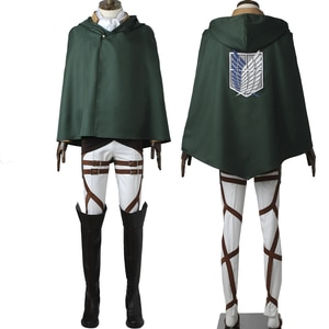 Adult Man Attack Titan  Cosplay  Costume Scout Legion Levi Role Playing Uniform Fancy Halloween Carnival Outfit