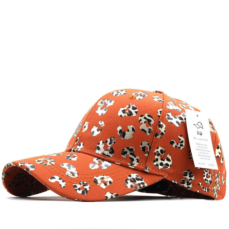 Korean Version Of The Four Seasons ladies New Cotton Cap  Leopard Print Baseball Cap Outdoor Travel