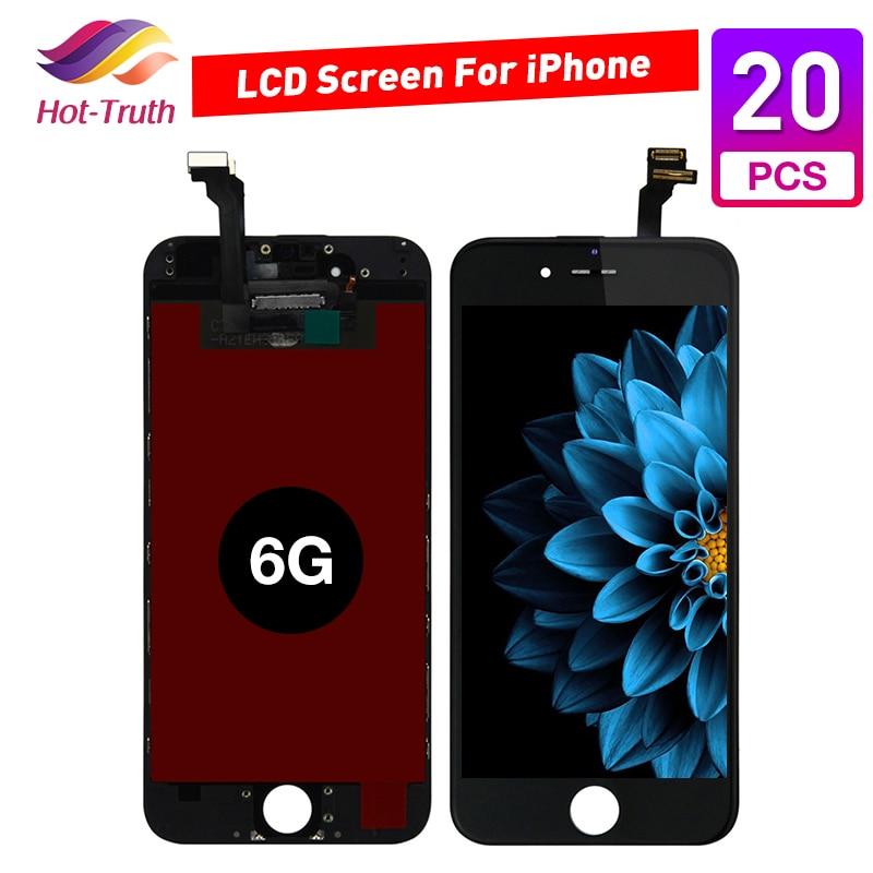 Grado AAA + + + 20 unids/lote para iPhone 6 A1549/A1586/A1589/A1522/A1524 pantalla LCD con reemplazo de montaje de digitalizador de pantalla táctil