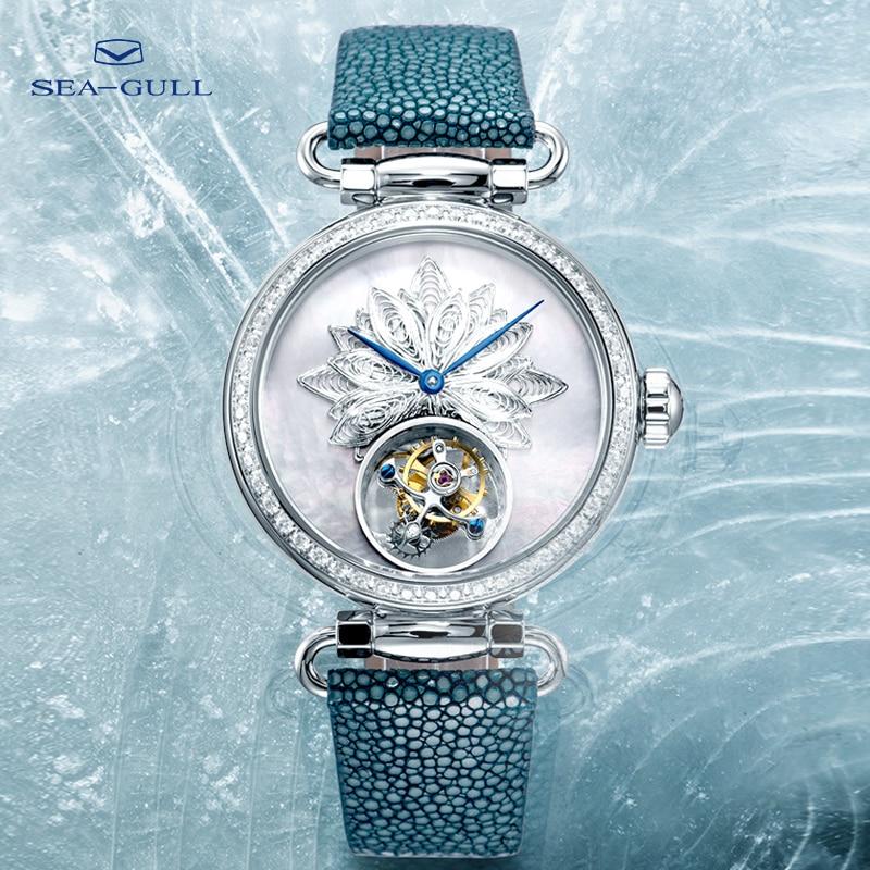 Seagull tourbillon mechanical watch luxury brand ladies manual tourbillon fashion hollow watch artist series 8103L