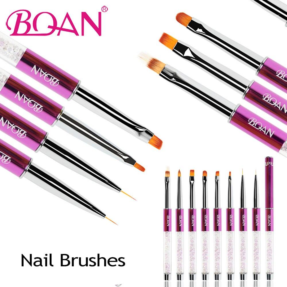 BQAN 1 Pc Kolinsky Acryl Nagel Pinsel #2 Nail art Liner Zeichnung Malerei Pen Pinsel Werkzeug Ombre Nagel Pinsel 7mm/9mm/11mm UV Gel