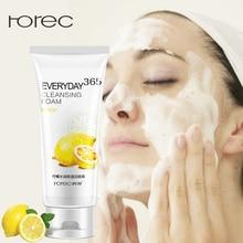 ROREC 100% plante Pure nettoyage en profondeur mousse nettoyant pour le visage rétrécissement Pores contrôle huile blanchissant hydratant Aloe Vera Gel nettoyant
